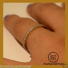 0.35 Man-made Diamonds 14k Solid Yellow Gold Wedding Band ON SALE NOW ONLY $85