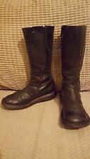 DR. MARTENS Size 5 BLACK mid CALF leather ZIP boots 3A63