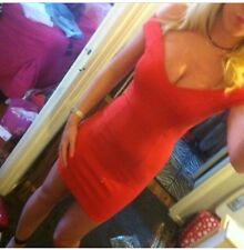 Red Topshop Bardot Bandeau Dress Never Worn 8