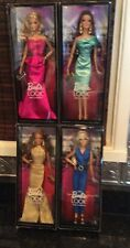 THE BARBIE LOOK RED CARPET 4 PC COLLECTOR DOLL SET 2013 BLACK LABEL MINT NRFB