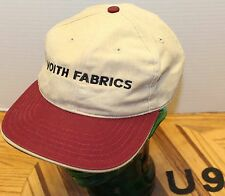 NICE VOITH FABRICS BEIGE & BURGUNDY ADJUSTABLE HAT IN VERY GOOD CONDITION