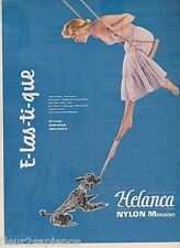 PUBLICITE de presse bas Nylon Mousse Helanca pin up  French ad 1956