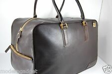 SUPPER CHIC!!! GIANNI VERSACE MEN  LARGE TRAVEL  LEATHER  BAG .MADE IN ITALY