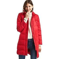 New Gap Women's Red Sunset Long Down Puffer Puffy Winter Coat Jacket Small S