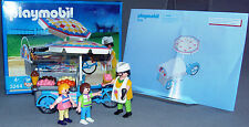 PLAYMOBIL ICE CREAM SELLER 3244 + BOX MODERN LIFE/CITY/PARK/HOLIDAY Compete VGC