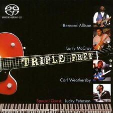 CD SACD HYBRID BLUES BERNARD ALLISON + LARRY McCRAY + CARL WEATHERBY TRIPLE FRET