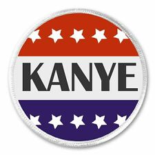 "Kanye Red White Blue Stars 3"" Sew On Patch President Vote Election Campaign"