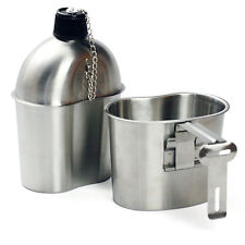 Military Stainless Steel Canteen and Cup 1 Quart G.I. Style Nylon Pouch Cover