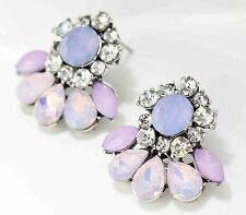 Bohemia design women gorgeous bib statement mixed crystal long Earrings 542