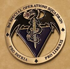 3rd Special Operations Squadron Commander UAV Recon Air Force Challenge Coin