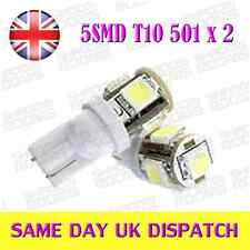 5 SMD T10 501 number plate sidelight bulbs HID White