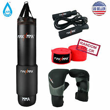 MaxxMMA 5 ft Ex Long Water/Air Heavy bag Kit - Boxing Punching MMA Karate