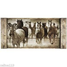 Running Horses Mustang Wall Home Decor Plaque MDF New On Sale.Free shipping.