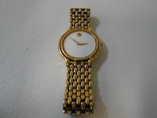 Movado 87 33 886 Luxury Watch White Face Gold Tone Bracelet