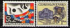 Czechoslovakia 1980 Sc2301-2 Mi2556-7 2v mnh Theatrical Ensemble Review&Theatre