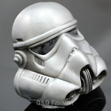 Vintage Silver Star Wars Stormtrooper 3D Helmet Mask Belt Buckle Fancy Dress