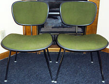 Rare Pair Herman Miller Eames Mid-Century Upholstered Office Chairs Original