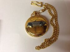 Austin Healey Frog Eyed ref16 pewter effect emblem gold quartz pocket watch