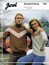 Sweater size 81 to 107 cm 32 to 42 inch Jarol 440 Vintage Retro Knitting Pattern