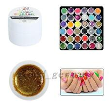 36PCS Glitter Mix Color UV Builder Gel Acrylic Set for Nail Art Tips Salon