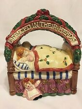 Fitz and Floyd Christmas Decoration Bed Candy Box 1993,N/B