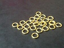 30 pcs 12mm strong thick Gold Plated GP closed soldered jump rings findings