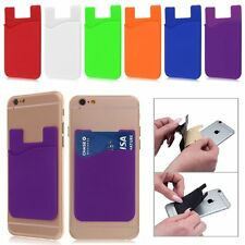 6pcs Silicone Credit Card/ID Wallet Sleeve Adhesive Universal Phones Holder