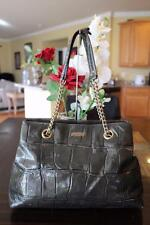 Kate Spade Knightsbridge Maryanne Croc Patent Leather Tote bag Graphite (pu100
