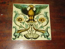 VICTORIAN ENGLISH TILE EAGLE DOLPHINS CLASSICALLY INSPIRED DESIGN