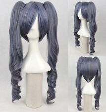 Black Butler Ciel Phantomhive Synthetic Cosplay Women Full Wig With 2 ponytails