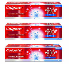 3x COLGATE Max White One Optic Teeth Whitening Premium Toothpaste 50ml