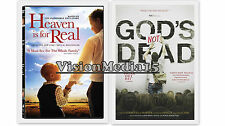 SEALED 2 Pack God's Not Dead - Heaven Is For Real DVD NEW 2 Pk SHIPS NOW !