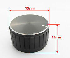 1pc 30x17mm Black Circular Knob Aluminium Cover for Audio Volume Tone Control