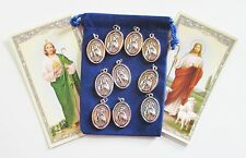Wholesale Lot 25 New St. Jude Saint Medals for Re-sell, Catholic, Christian