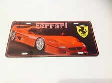 FERRARI SPORTS CAR LICENCE PLATE/ ITALY   Wall Decor Vintage Sign Tin Plaque