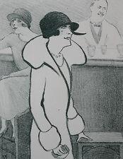 Estampe Lithographie de Georges Van Houten Moulin rouge Cabaret Paris Danse Fête