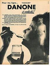 PUBLICITE ADVERTISING 124  1962  DANONE  yoghourt