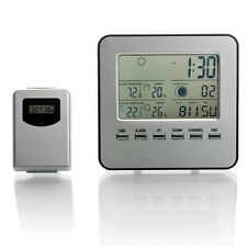 Indoor/Outdoor Wireless Digital Temperature Weather Station Clock Humidity Meter