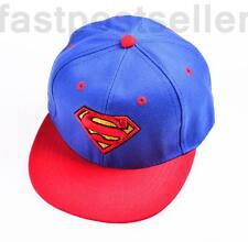 Kid Boys Children Superman Snapback Baseball Cap Hat Adjustable Gift Accessory