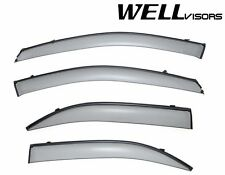 WellVisors CLIP ON Style Side Window Visors W/ Black Trim For 03-09 KIA Sorento