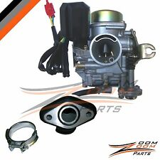 20mm Wildfire 50cc 50 Carburetor & Intake Manifold Boot Scooter Moped Carb NEW