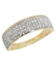 9ct Yellow Gold Solid Ladies Cubic Zirconia CZ Ring All Sizes Available NEW