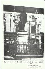 Staffordshire Postcard - Old Stoke-on-Trent - Campbell Statue c1907   U804