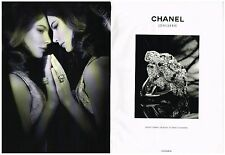 PUBLICITE  ADVERTISING   2008   CHANEL  collection bijoux (2 pages)