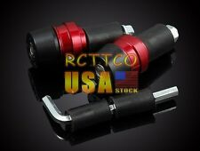 "Red Universal Handlebar Aluminum 7/8""BarEnds Grips/Plugs Slider For Suzuki Honda"