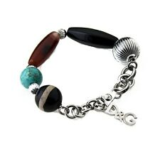 NEW DOLCE & GABBANA D&G DJ0857 FASHIONABLE SILVER/MULTICOLOR BRACELET LADIES !!