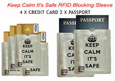 Mind Your Security 4 credit card +2 passport RFID Blocking Sleeve Scam free