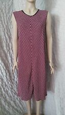 Marni  maroon  crepe viscose sleeveless  unlined dress winter 2013 size 14 UK