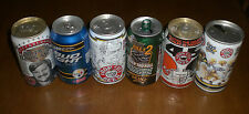6 PITTSBURGH STEELERS IRON CITY BUD LIGHT ROLLING ROCK BEER CANS