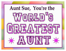 PERSONALIZED WORLD'S GREATEST AUNT MAGNET